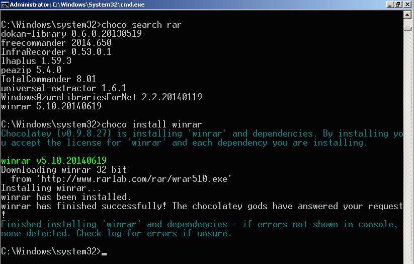 [Windows] 使用 chocolatey 套件管理員搜尋並安裝 Windows 軟體