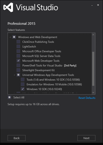 [VS2015] 安裝 Windows SDK 10 與 WDK 10 版本衝突?