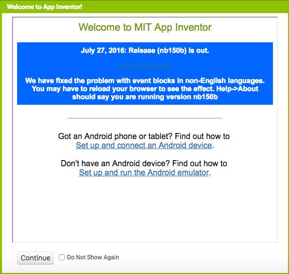 [App Inventor] MIT App Inventor 2 安裝與初學